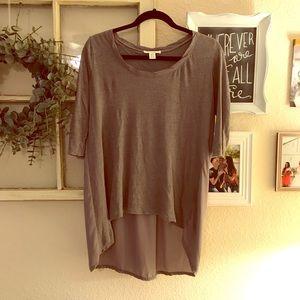 Hi-Low flowy tunic • Size S